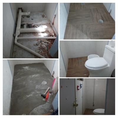 instalacion sanitaria de baño y remodelacion