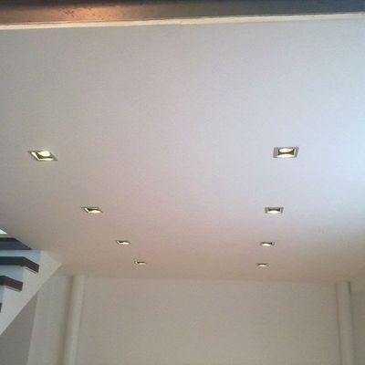 Plafon de tablaroca e iluminación