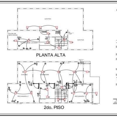 Planos de instalación eléctrica.