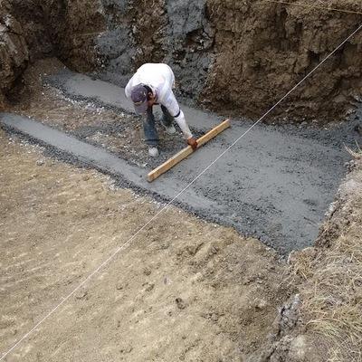 Plantilla de concreto
