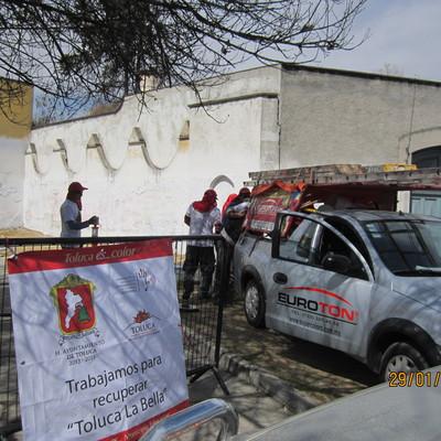 Pntura en fachadas de inmuebles Centro de Toluca