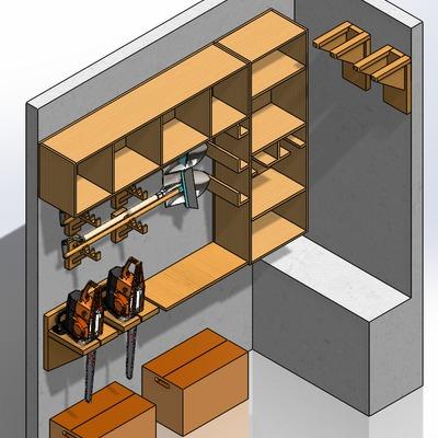 Modelo 3D Cajones para herramientas