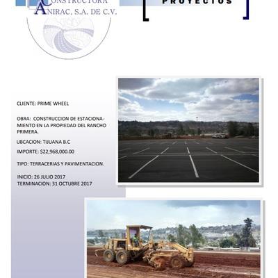 CONSTRUCCION DE ESTACIONAMIENTO