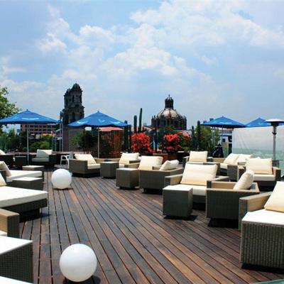 Proyecto y construccion terraza hotel cortes