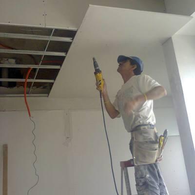 remodelando plafon de tablaroca