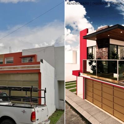 Render ampliación vivienda