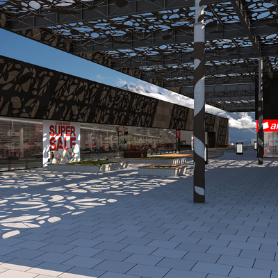 Asmacati pasillo principal vista supermarket
