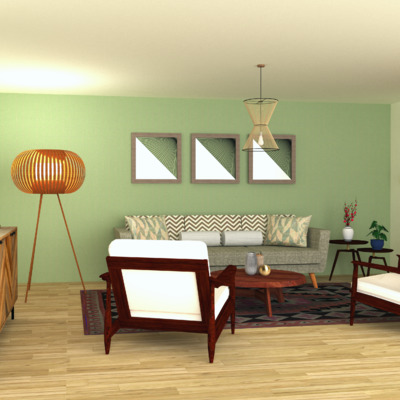 Propuesta sala de estar (boho chic) 2