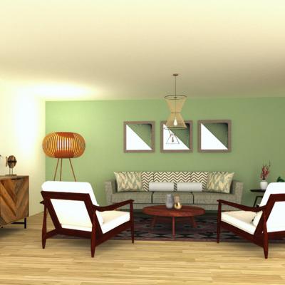 Propuesta sala de estar (boho chic) 3