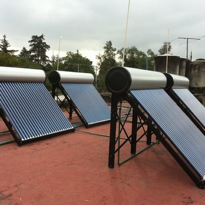 Sistema Foto-térmico integrado por 4 x 240 Litros en paralelo - Tlálpan, D.F.