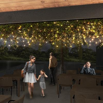 Terraza cafetería en Boca del Río
