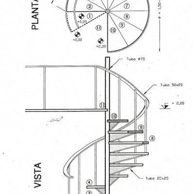 plano escalera