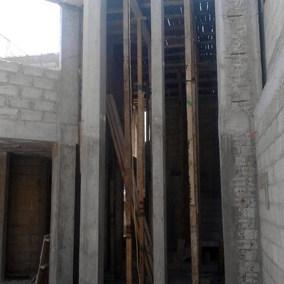 Vista de fachada principal en proceso