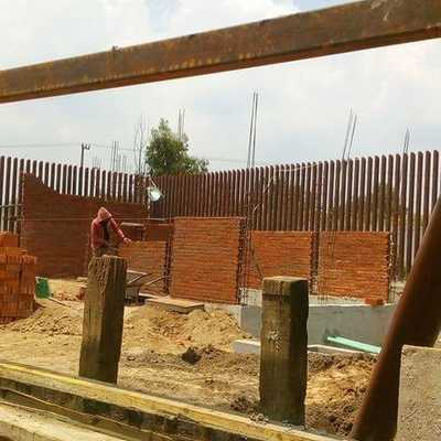 construccion de muro para oficinas