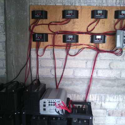 Banco de baterías para un sistema aislado