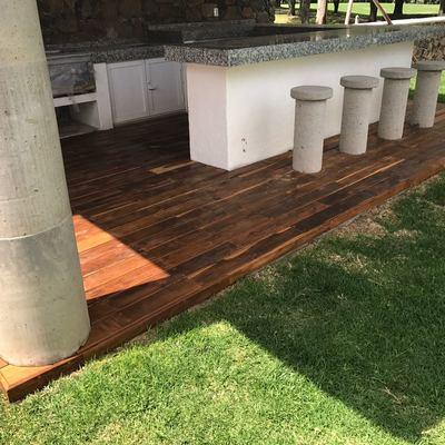 Terraza, deck madera de teca
