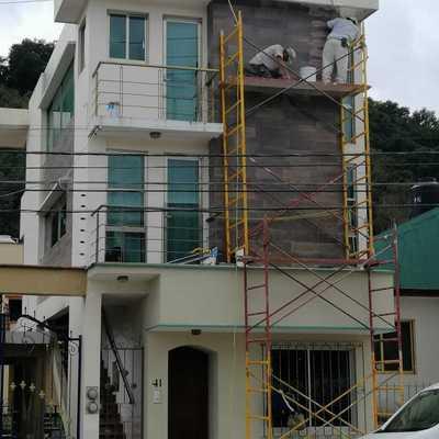 Cambio de losetas en fachada