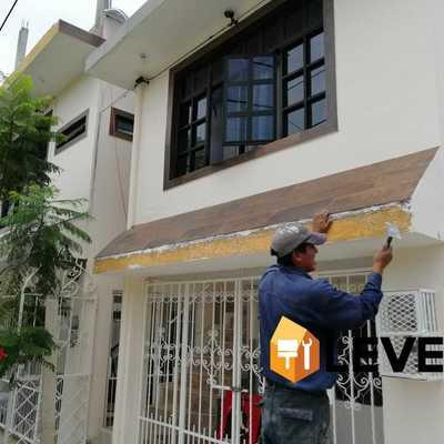 Colocación de loseta en fachada