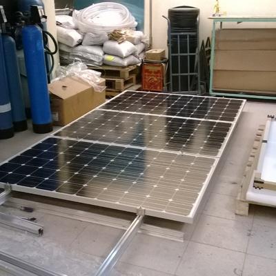 Armando sistema de montaje y paneles