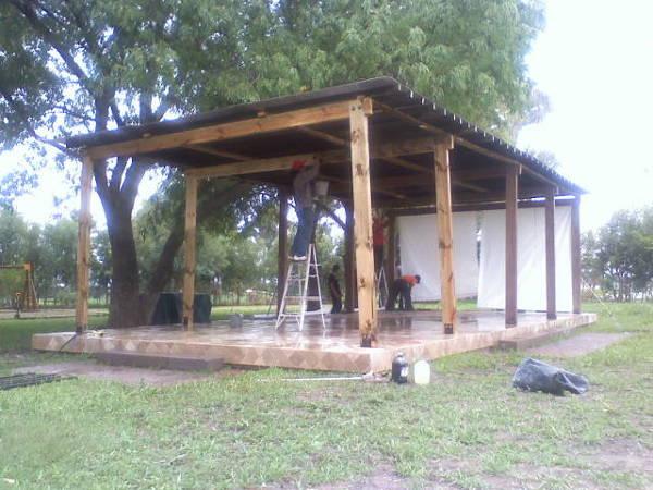 Foto Terraza Pergolada De Madera En Casa De Campo Nuevo