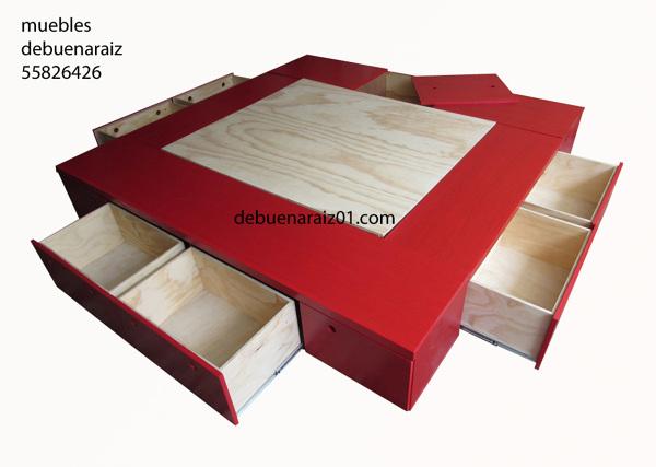 Foto base para cama beta king size 7 de taller de for Medidas de recamaras king size