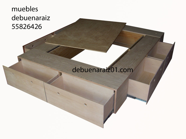 Foto base para cama modelo beta 100 madera de taller de for Base para cama king size medidas