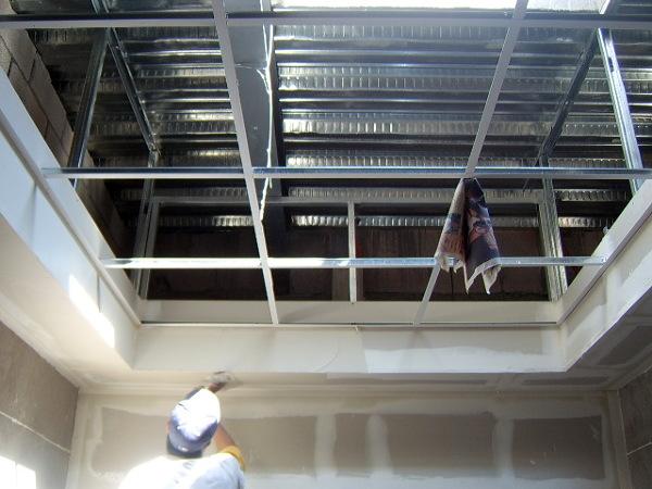 Foto canacintra tablaroca plafones y muros durock for Plafones de pared grandes