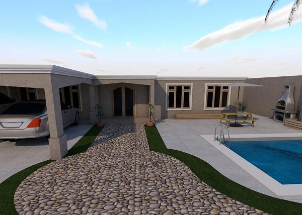 Foto render proyecto casa habitacion de deco arquitectura for Proyecto casa habitacion minimalista