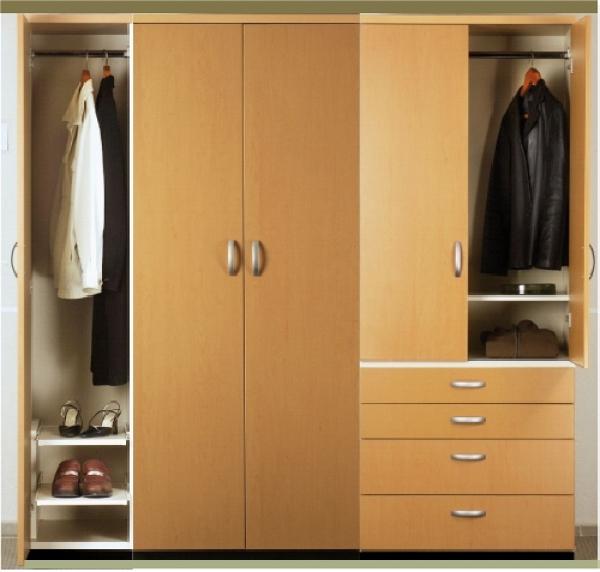 Foto closet 2 5 versi n cajones de sistemas de for Closet en melamina modernos