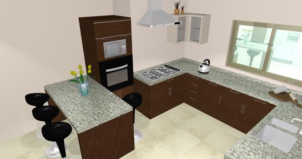 Foto cocina de casa 123 161986 habitissimo for Cocina profesional en casa