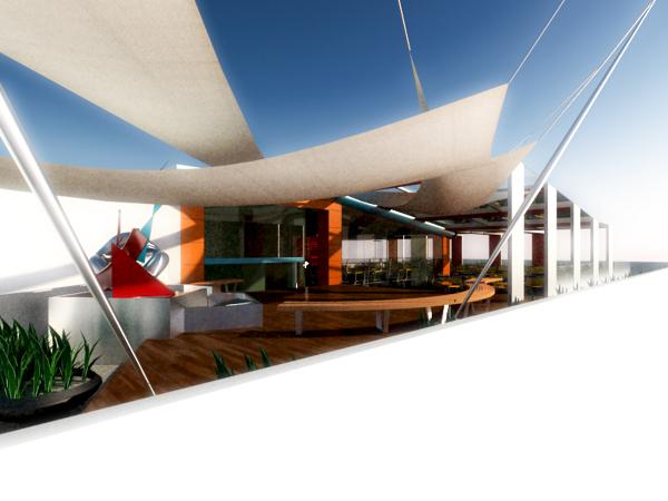 Baños Vestidores Empleados:Foto: Comedor de Empleados de Æon Teserac Arquitectos #32987