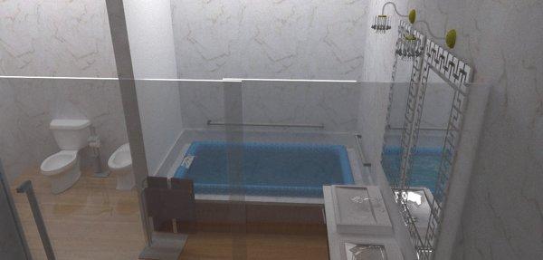 Baño Vestidor Minimalista:Foto: Diseño de Baño Vestidor de Arquitectura E Interiores: Aldo