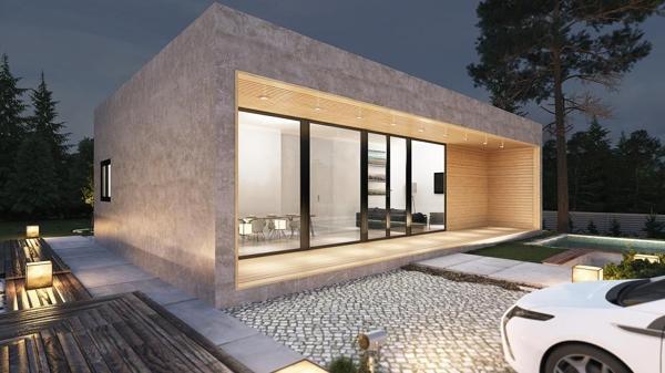 Foto casa cuadro minimalista de struk 123152 habitissimo - Casas modulares barcelona ...