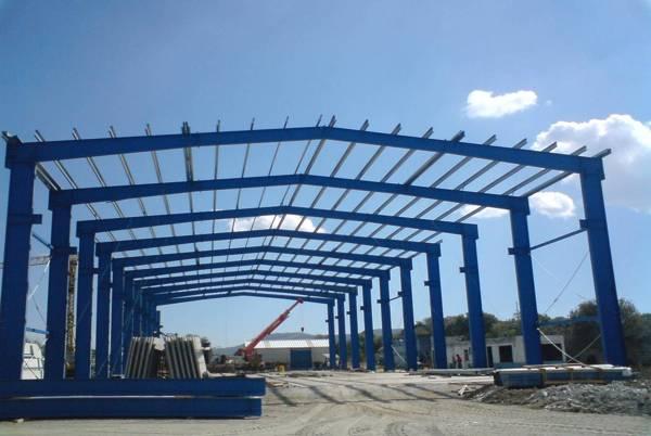 Foto estructura met lica para nave industrial de - Precio estructura metalica ...