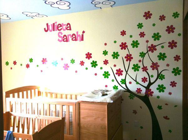 Foto arbol con flores de muur deco 134101 habitissimo - Grijze muur deco ...