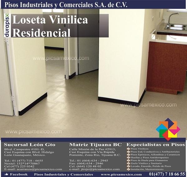Foto loseta vinilica residencial de pisos industriales y for Loseta vinilica precio
