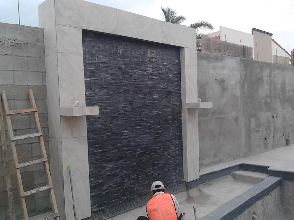 Foto muro lloron cortina de agua y fuentes con fuego en - Como construir una cortina de agua ...
