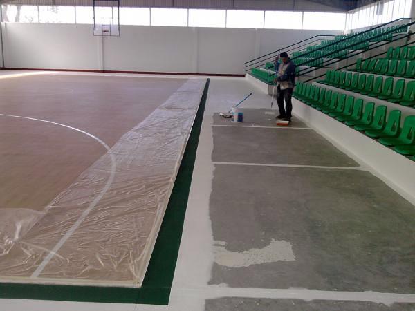 Foto pintura especial para cancha deportiva de toledo s - Pintura especial para banos ...