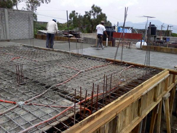 Foto trabes principales losa de concreto armado de for Losa techo