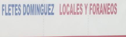 Fletes y Mudanzas Domínguez