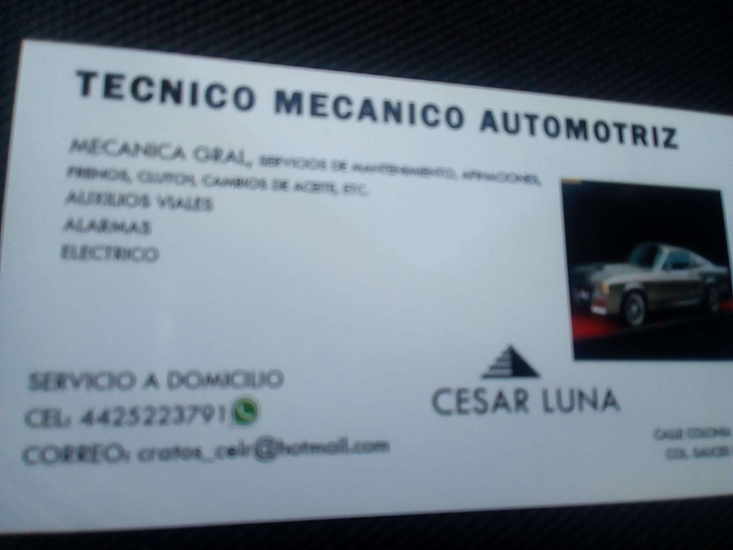 Técnico Automotriz Luna