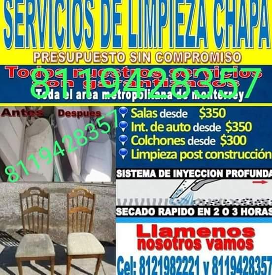 Servicios De Limpieza Chapa