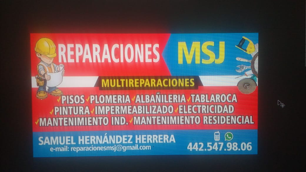 Reparaciones msj