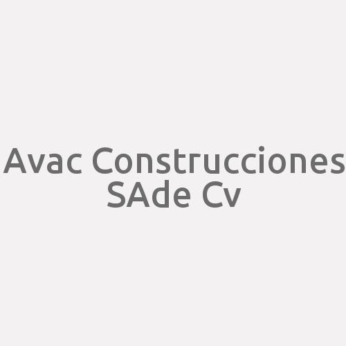 Avac Construcciones Sa De Cv