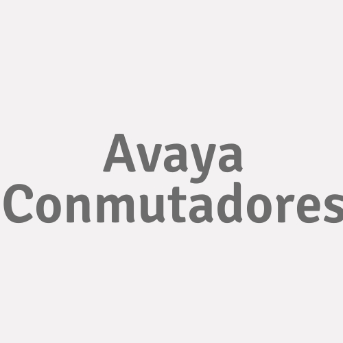 Avaya Conmutadores