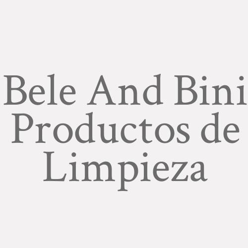 Bele And Bini Productos de Limpieza