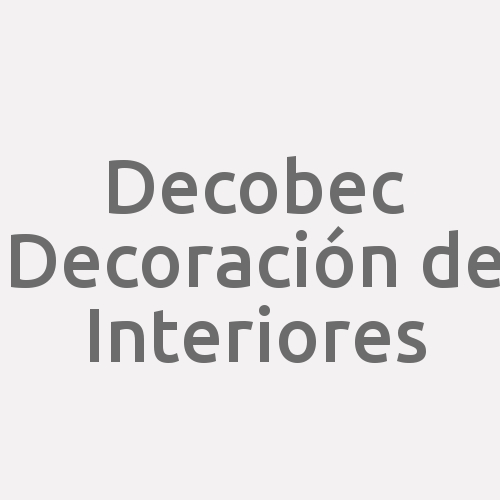 Decobec Decoración De Interiores