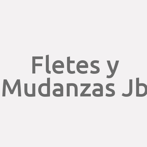 Fletes y Mudanzas Jb