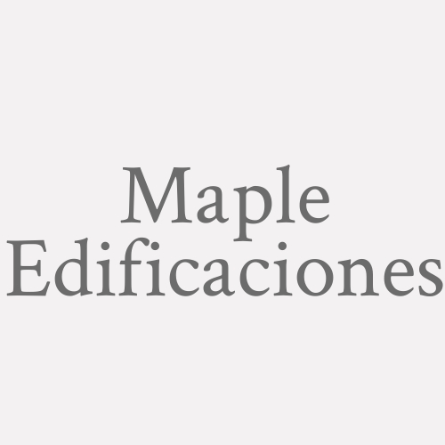 Maple Edificaciones