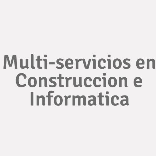 Multi-servicios En Construccion E Informatica